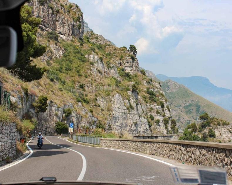 Rijden langs de Amalfikust, Italië - Map of Joy