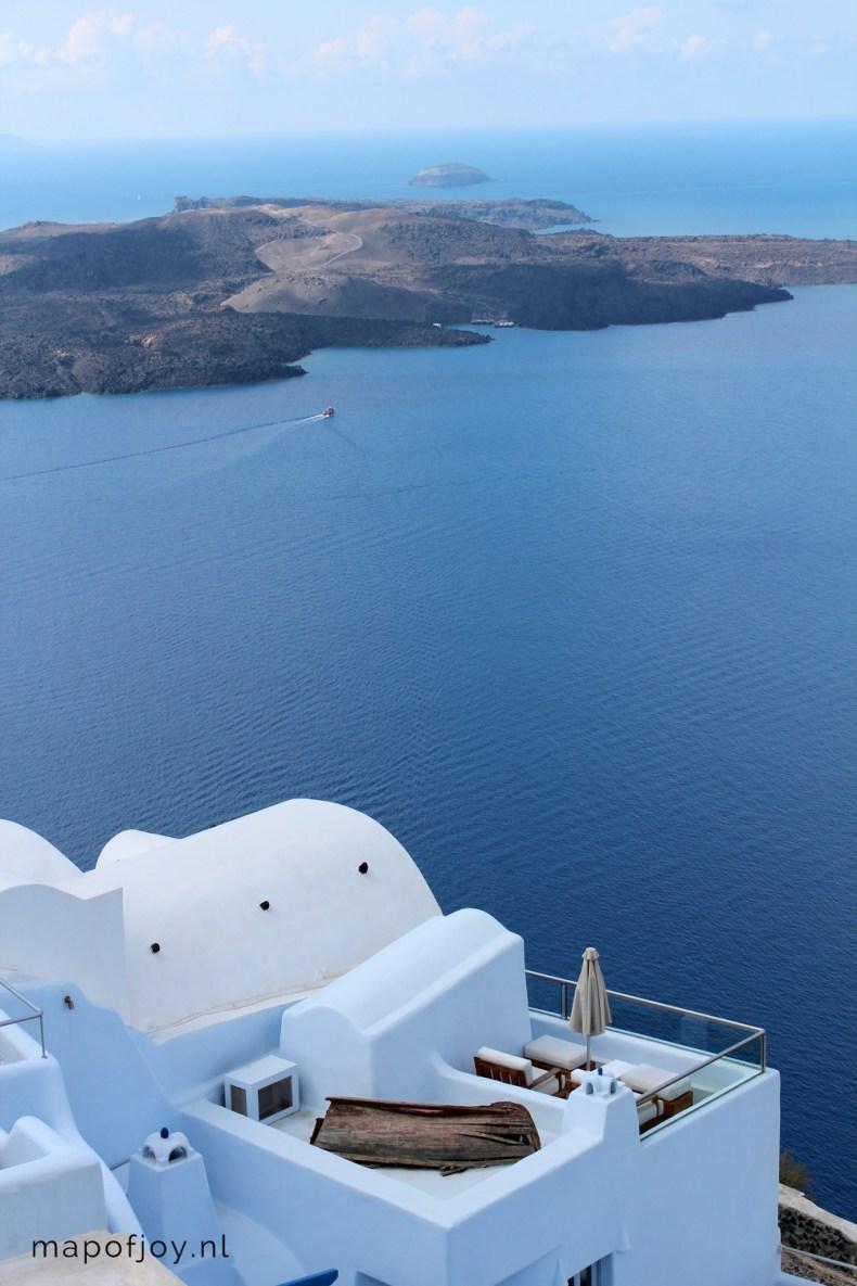 Santorini Greece, Fira - Map of Joy