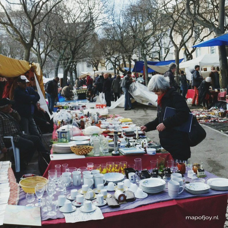 Lisbon, market in Alfama - Map of Joy