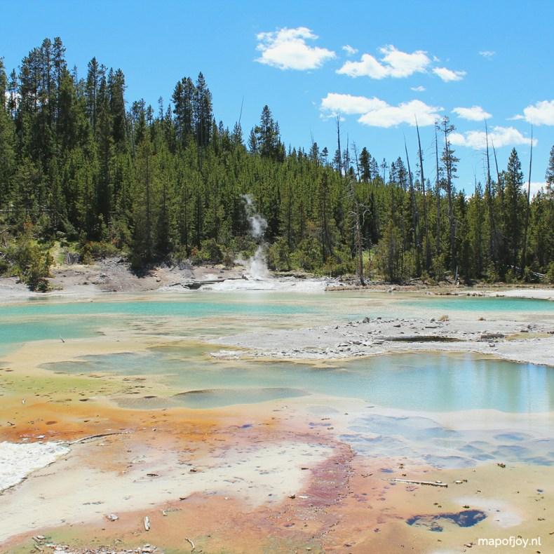 Norris Geyser Basin, Yellowstone, USA - Map of Joy
