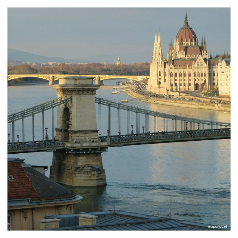 View from Buda in Budapest - Map of Joy