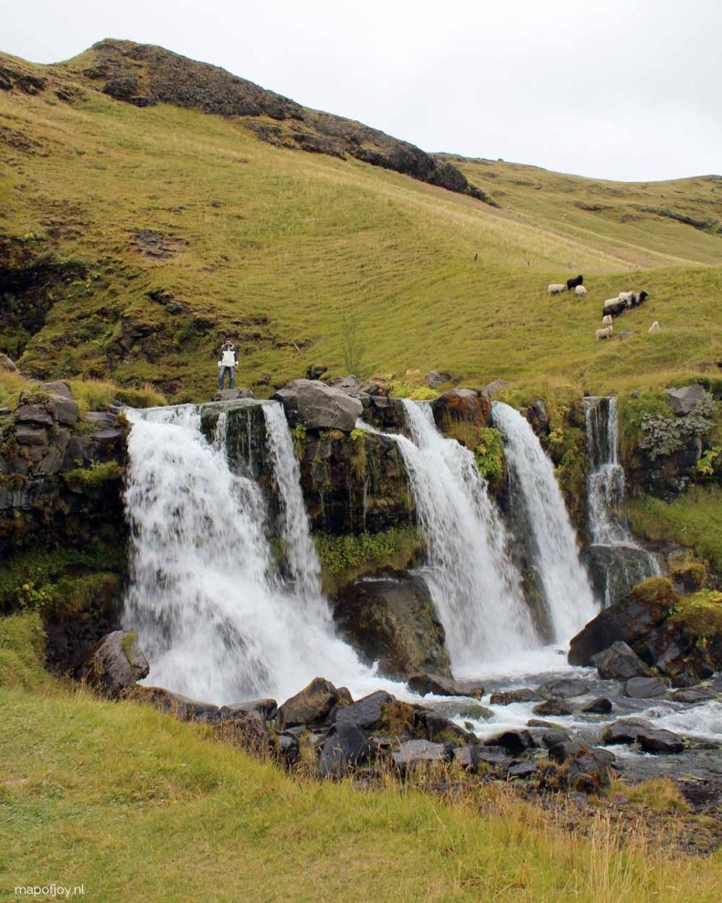 Gluggafoss waterval in IJsland, Map of Joy