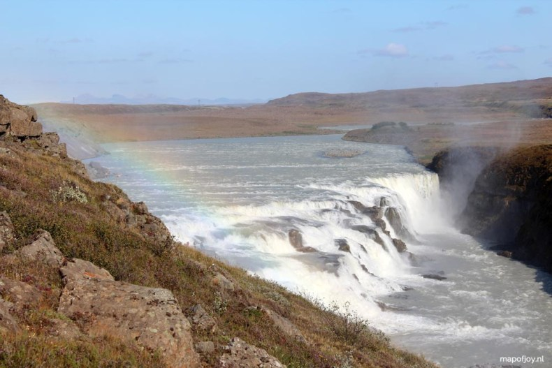 Gullfoss waterval, IJsland - Map of Joy