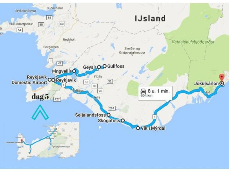 Planing en route roadtrip zuid-Ijsland - Map of Joy
