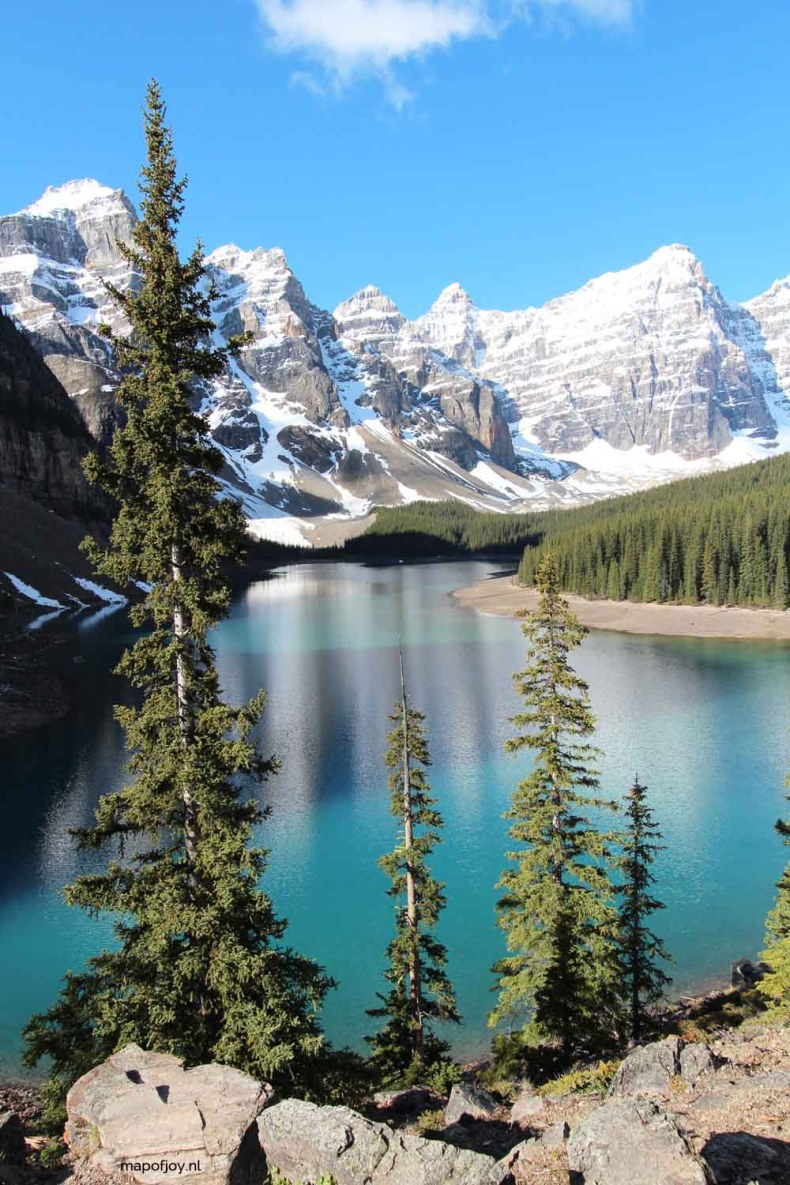 Lake Moraine, Alberta, Canada - Map of Joy