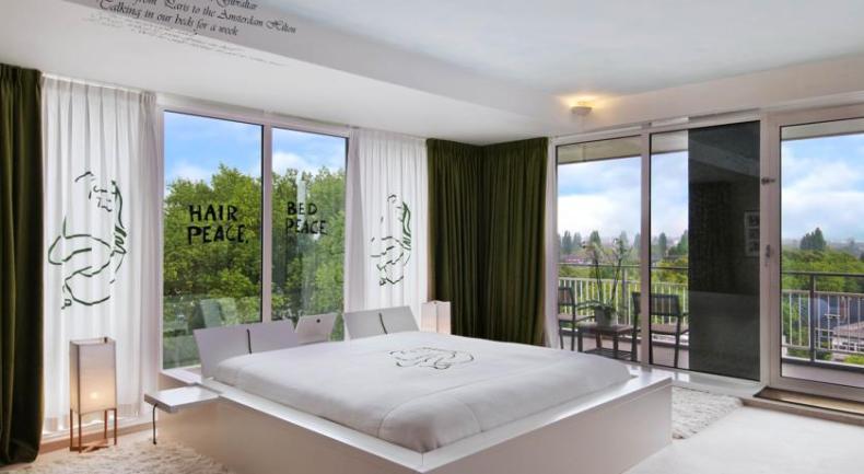 Hilton Hotel Amsterdam, John & Yoko suite - Map of Joy