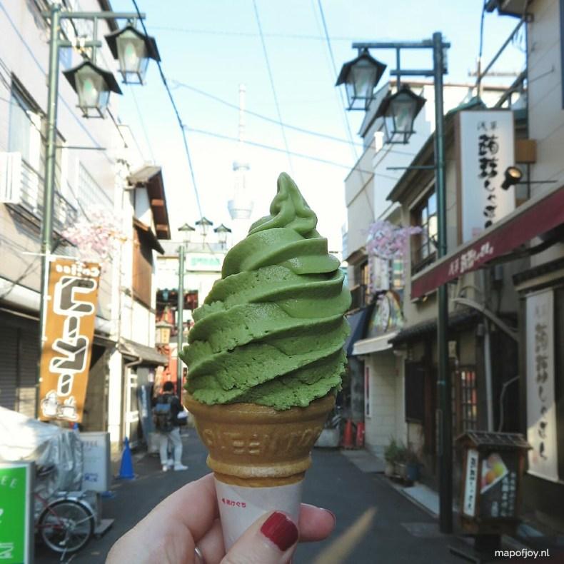 Asakusa, Tokyo, Japan, green tea icecream - Map of Joy