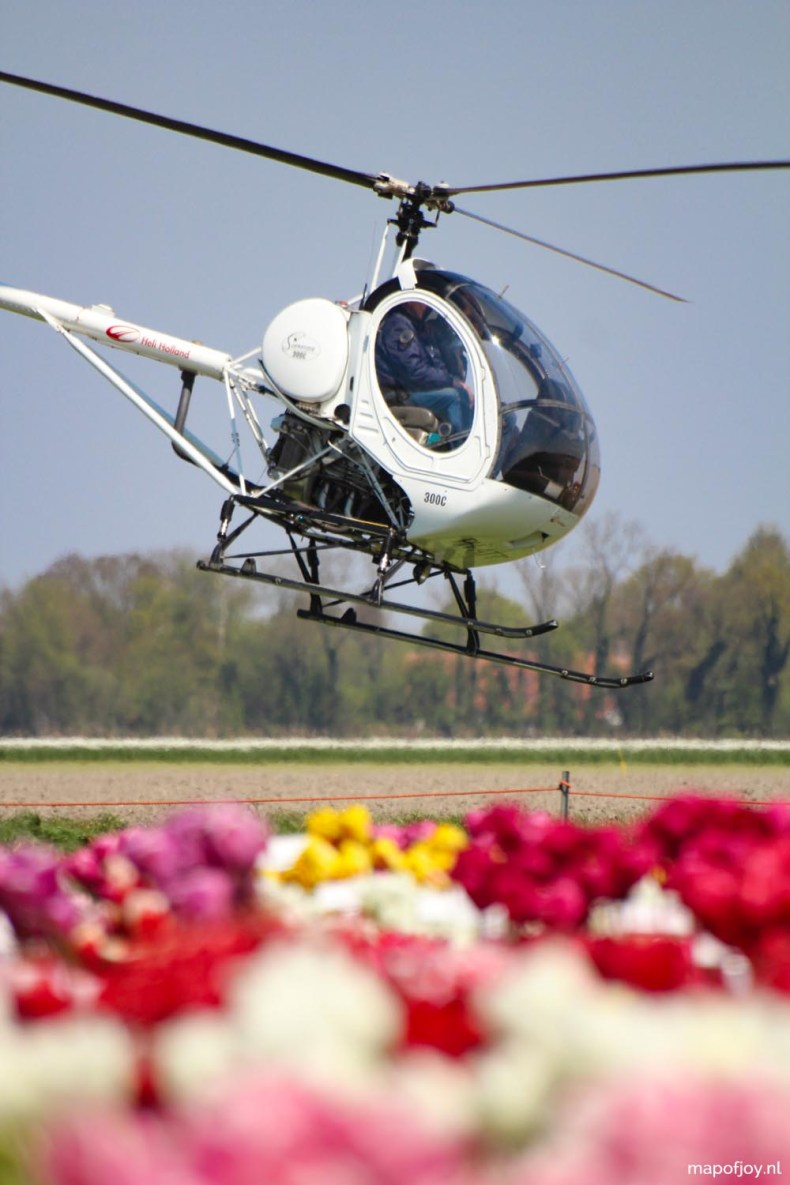 Tulpenfestival, Flevoland, Holland, helikopter - Map of Joy