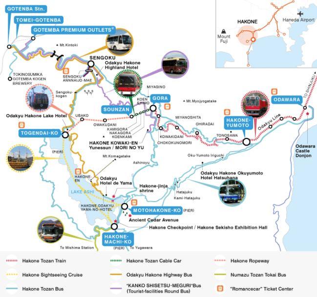 map Hakone, Japan