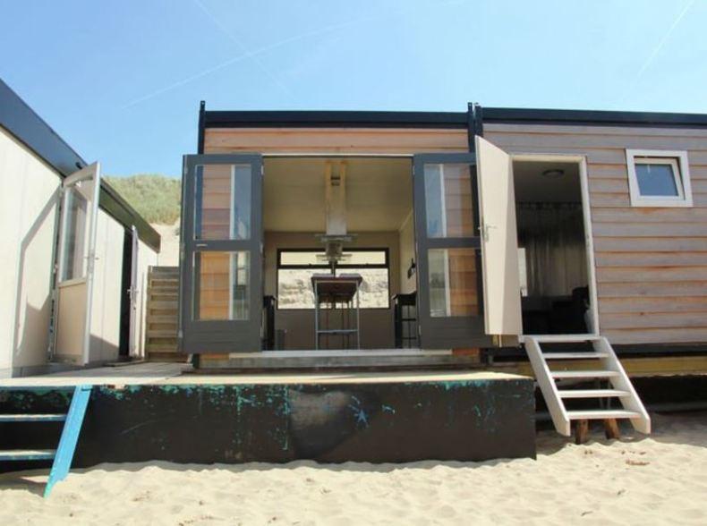 Slapen op het Strand, slaapstrandhuisje Nederland - Map of Joy