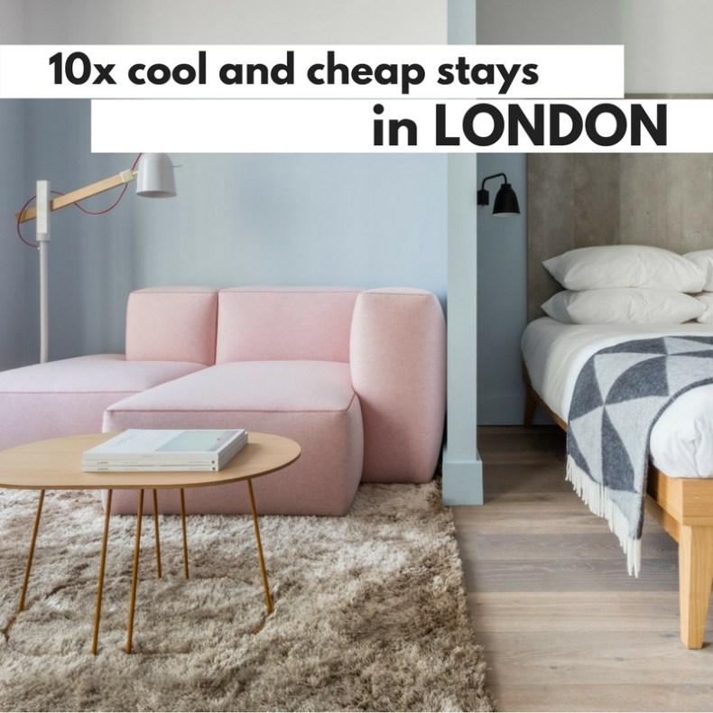 10x cool and cheap stays in London - Map of Joy