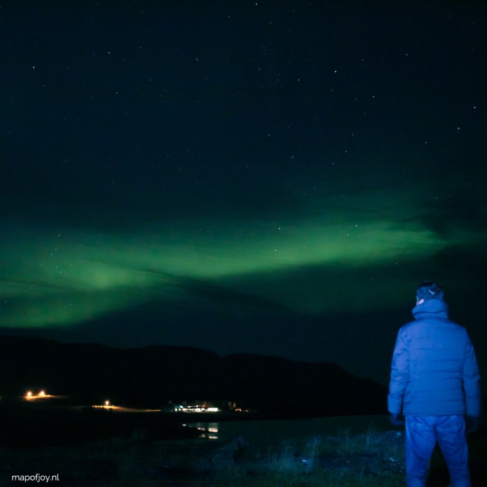 Northern Lights in Akureyri, Iceland - Map of Joy