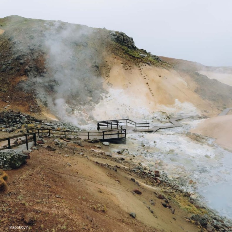 Seltun, geothermal area, Iceland - Map of Joy