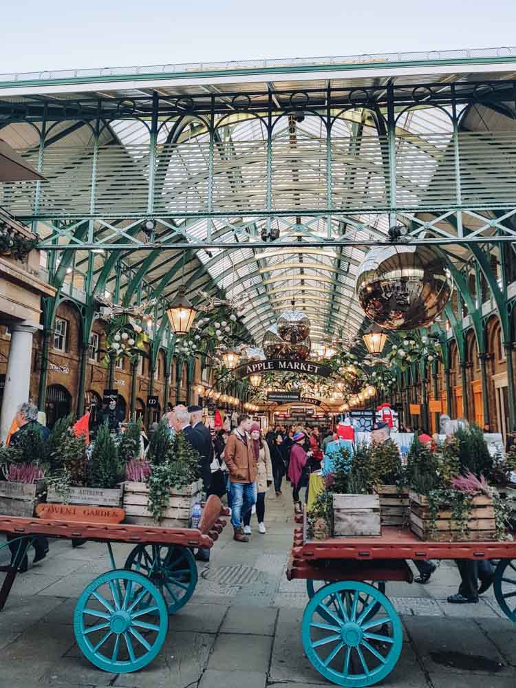 Covent Garden, kerst in London - Map of Joy