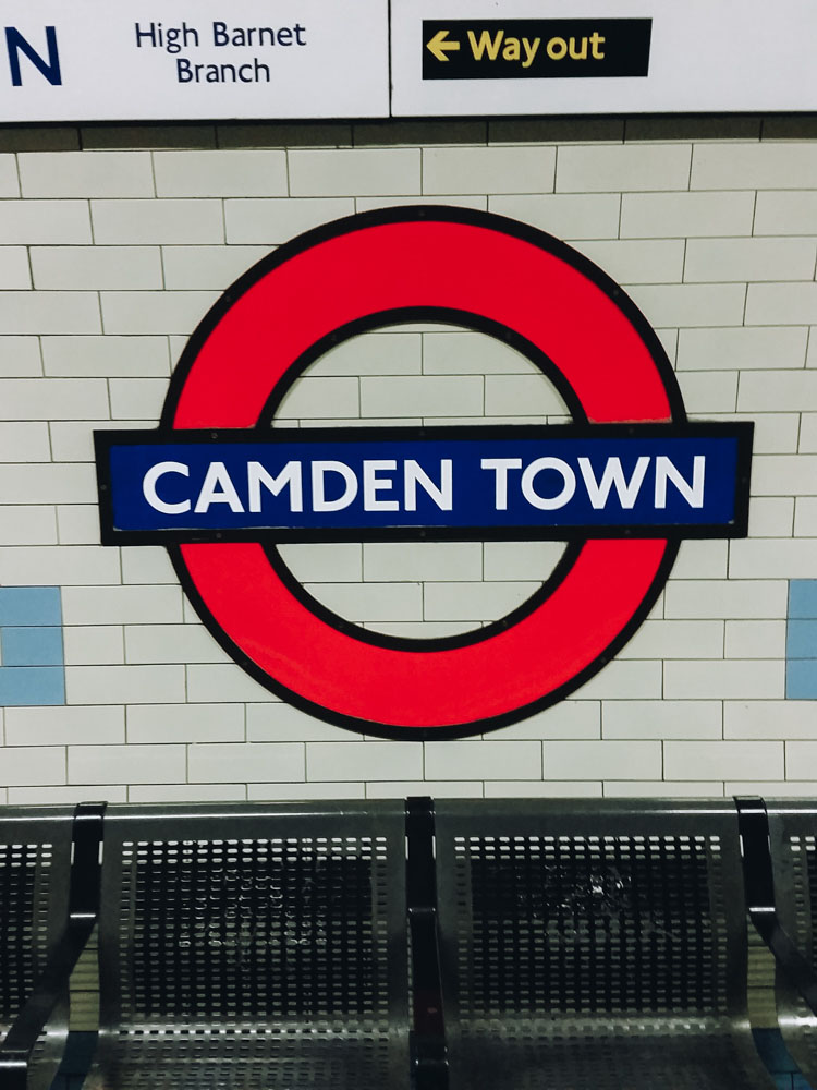 Camden, subway, London - Map of Joy