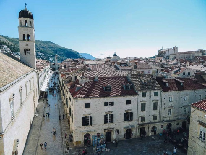 Dubrovnik, wandelen over de stadsmuren - Map of Joy