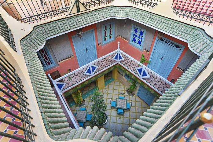 Riad Aicha, Marrakech, leuke, goedkope accommodatie - Map of Joy