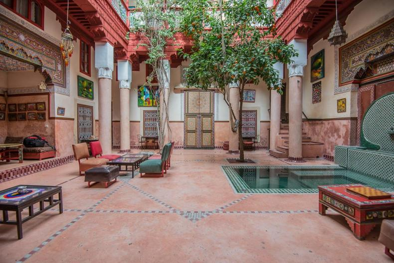 Riad Chorfa, Marrakech, leuke, goedkope accommodatie - Map of Joy