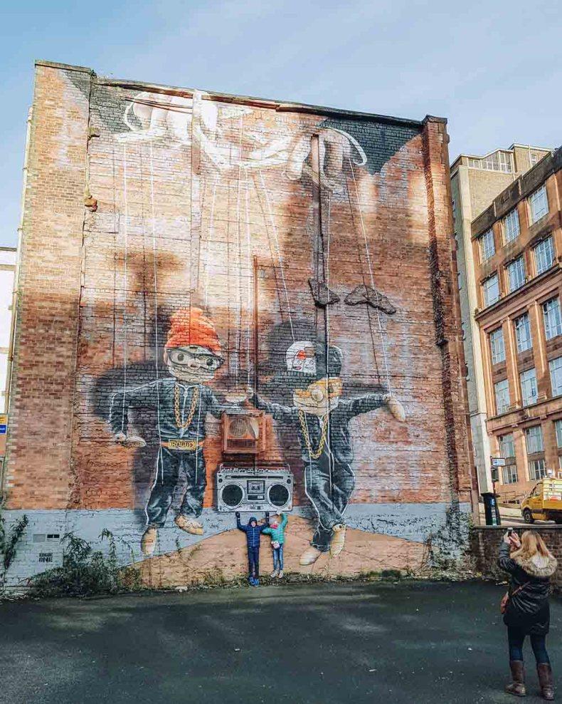 Hip Hop Marionettes, John Street, Glasgow - Map of Joy