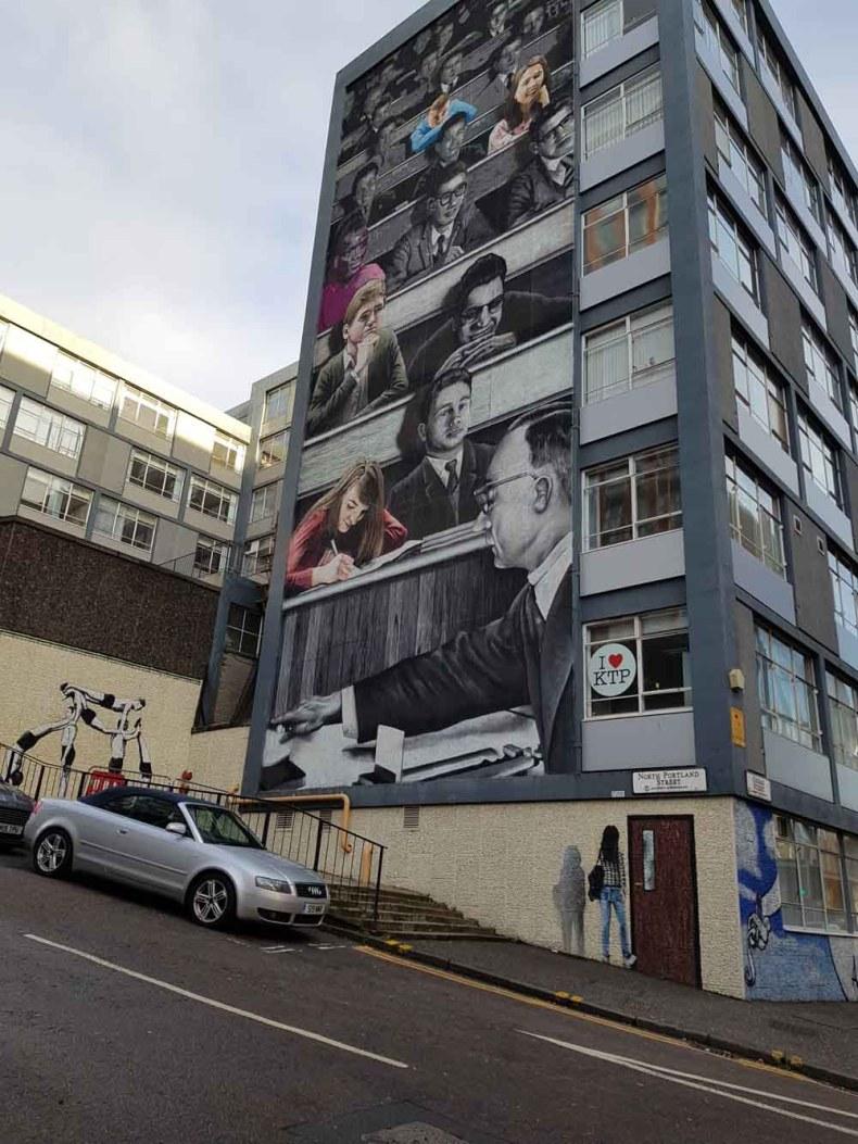 'The Wonderwall', George Street/North Portland Street, Glasgow - Map of Joy