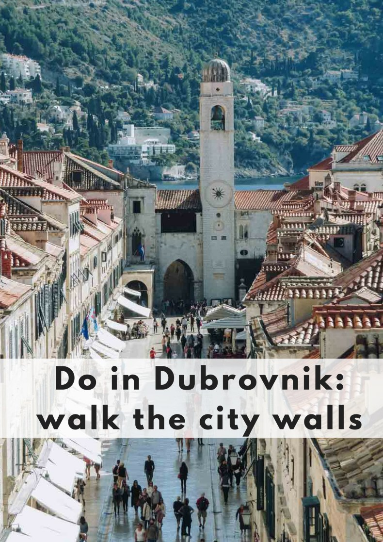 Do in Dubrovnik: walk the city walls. Info, where to go, what to see. - Map of Joy