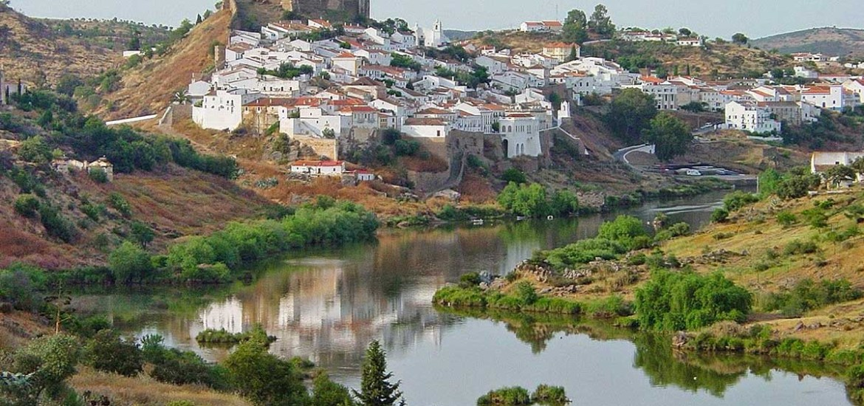 Dorpje Mertola, Alentejo, Portugal