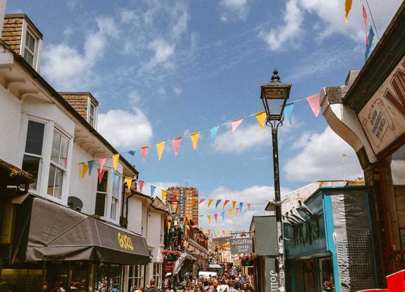 The Lanes, Brighton, leuke dingen doen in brighton - Map of Joy