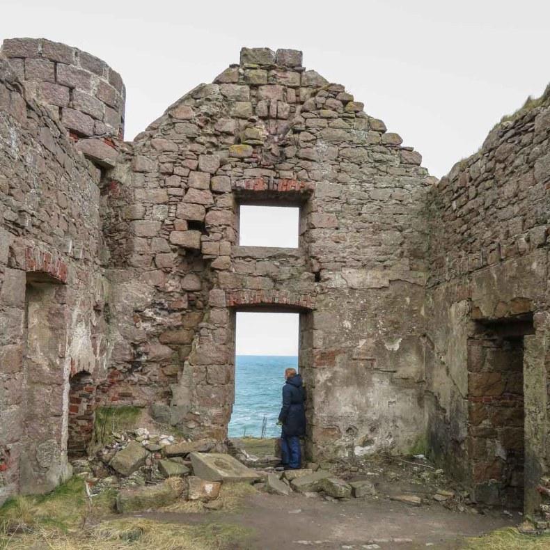 New Slains Castle, Aberdeenshire, Schotland - Map of Joy