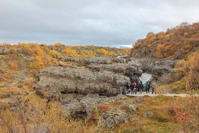 Barnafoss, IJsland in de herfst: 3x de mooiste watervallen - Map of Joy