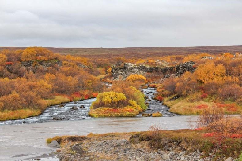 Hraunfossar, IJsland in de herfst: 3x de mooiste watervallen - Map of Joy