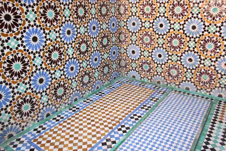Tombes van de Saädieden, doen in Marrakech - Map of Joy