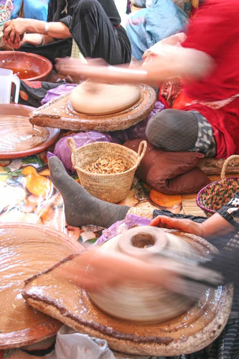 arganolie maken in Marokko - Map of Joy