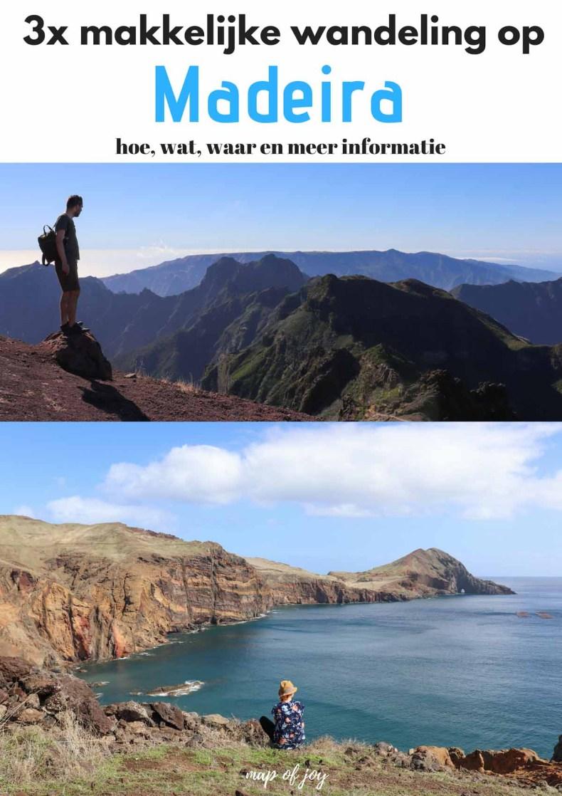 3x makkelijke wandeling op Madeira - Map of Joy