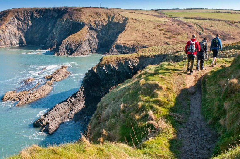 Roadtrip route The Coastal Way, Pembrokeshire, Wales
