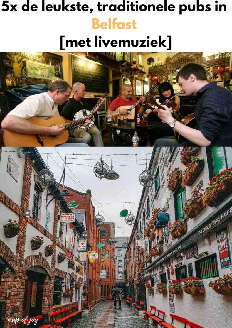 5x de leukste, traditionele pubs in Belfast [met livemuziek] - Map of Joy