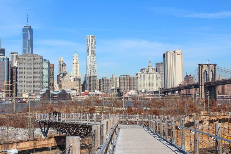 13x leuke parken in New York [en wat je er kunt doen], Brooklyn Bridge Park - Map of Joy