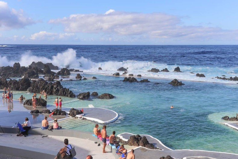 Natuurlijke baden in Porto Moniz, Madeira - Map of Joy