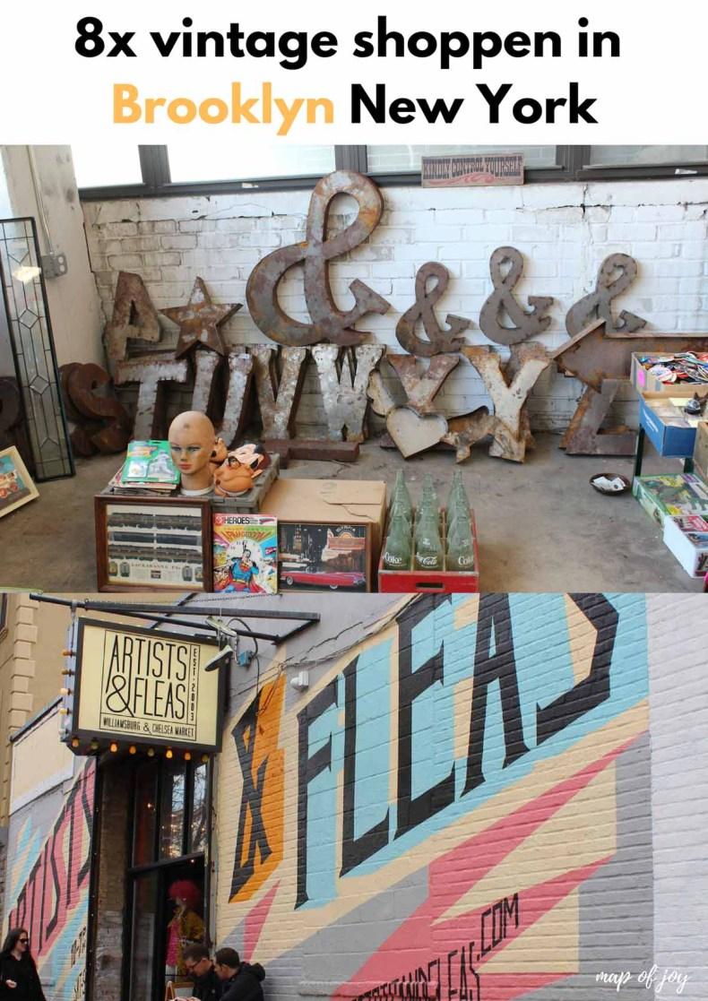 8x vintage shoppen in Brooklyn - Map of Joy