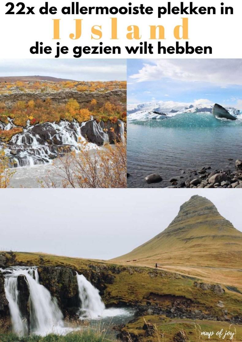 de allermooiste plekken in IJsland - Map of Joy