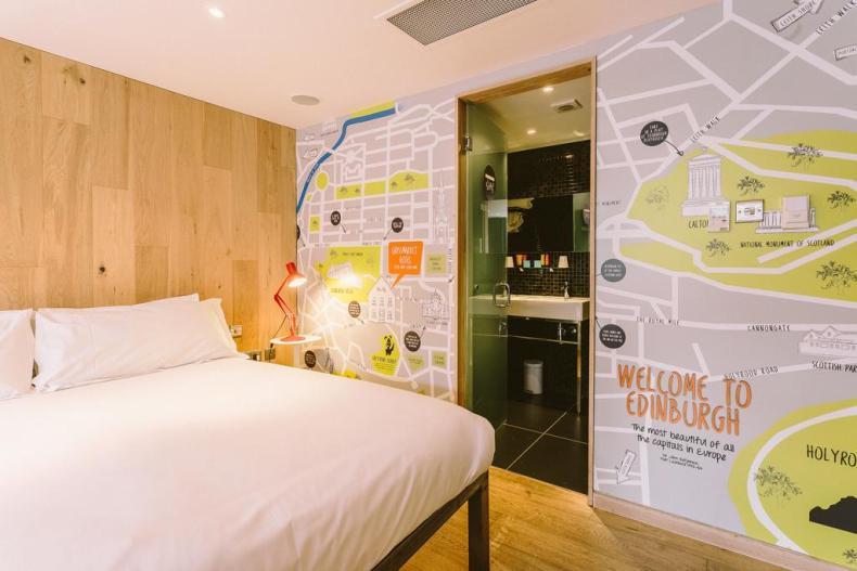 leuke, betaalbare hotels in Edinburgh - Map of Joy