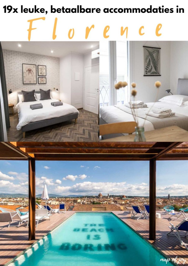 19x leuke, betaalbare accommodaties in Florence - Map of Joy