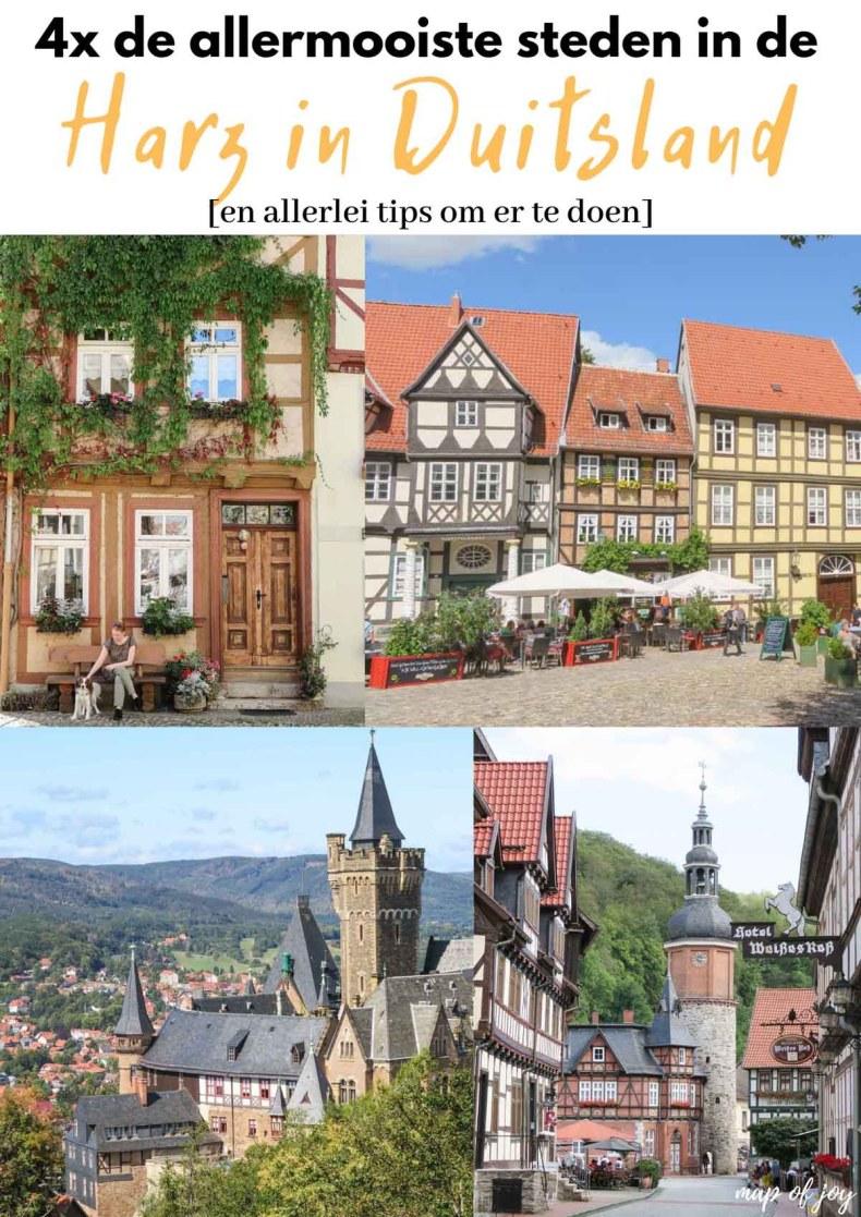4x de mooiste steden in de Harz - Map of Joy