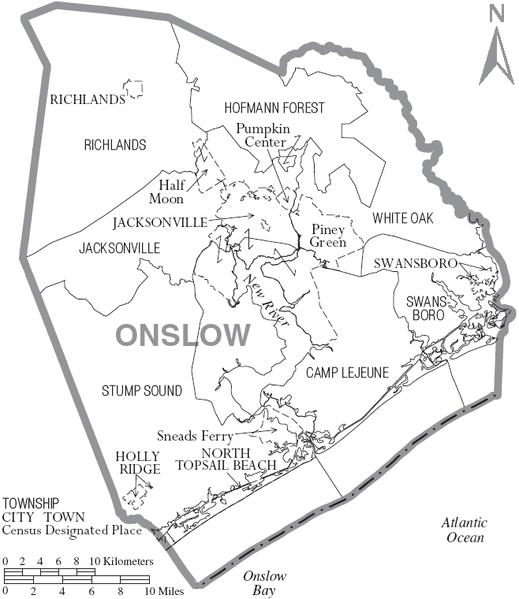Onslow County, North Carolina History, Genealogy Records