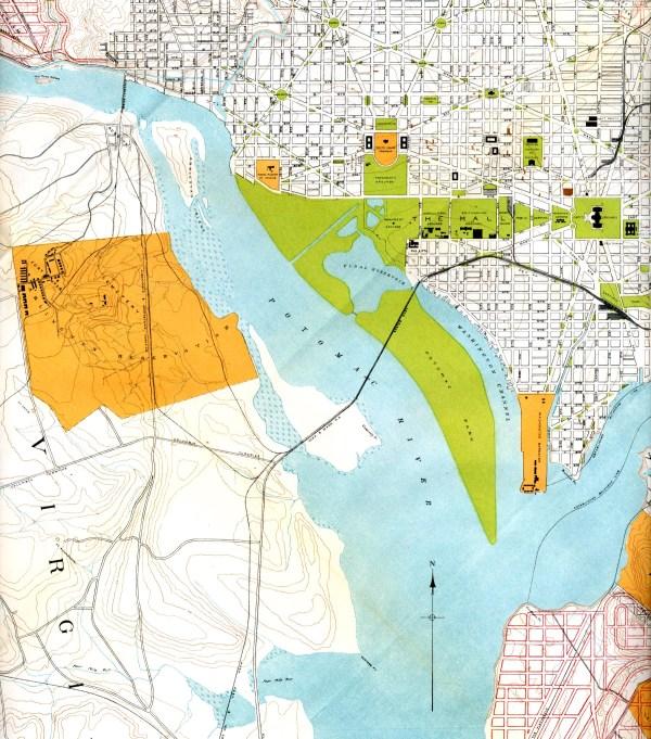 Antique Map Of Washington Dc 1901