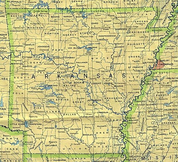 Arkansas County Map Arkansas mappery
