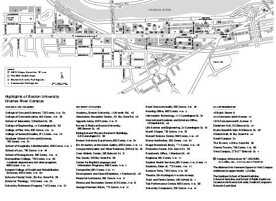 College University: Boston College University Map