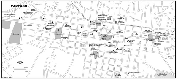 Cartago city Map • mappery