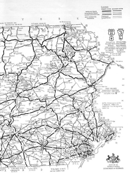 Eastern Pennsylvania Road Map Pennsylvania mappery