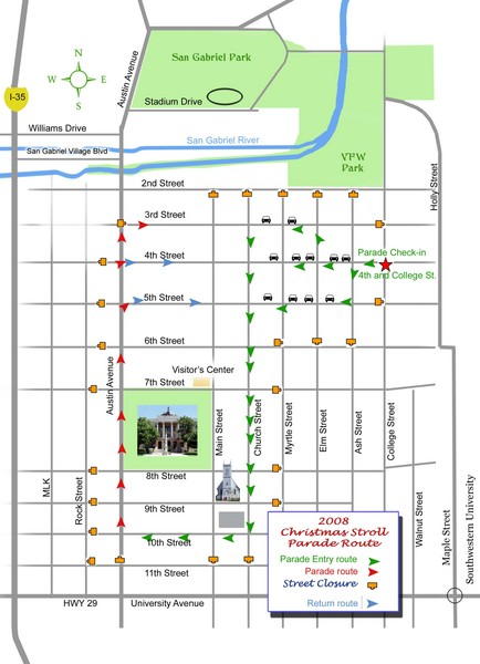 Georgetown Christmas Stroll Paradise Route Map 4th and