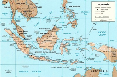 Indonesia Island Map - Indonesia • mappery